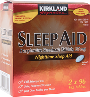 Sleep Aid 25mg (Doxylamine Succinate) 192 Comprimidos